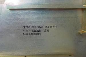 Coding and marking of aerospace parts – BAC 5307 – Inkjet #31
