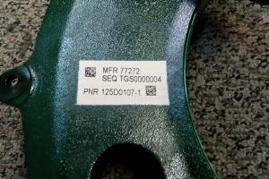 MIL-STD 130 IUID/UID – DOD UID Marking – Inkjet on White Patch #19